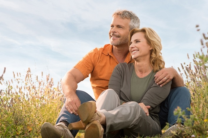Happy Mature Couple Relaxing